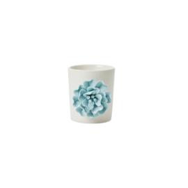 RICE (bloem) potje met bloem - blauw