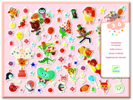 DJECO stickers - Het Feestje 100 puffy stickers 3 jr. +