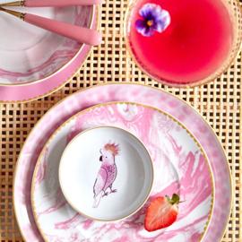 RICE dipping bowl met Cockatoo print - porselein