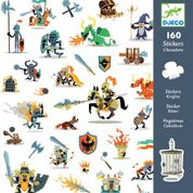 DJECO 160 stickers - thema ridders 4 jr. +