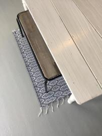 Kitchen Trend metalen bank met houten zitting 100cm - mat zwart