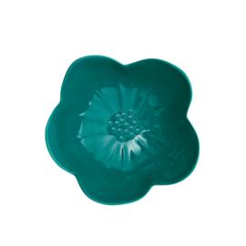 RICE melamine schaal in bloem vorm - groen