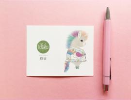 Illeke minikaartje Maruska de Eenhoorn