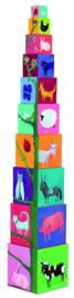 DJECO 10 stapelblokken natuur & dieren 12 mnd. +