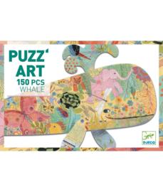 DJECO Puzzel Art - Whale  (150 stukjes) 6 jr. +