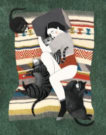 Liekeland print - Kattenvrouw