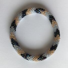 Loffs armband - blauw/ zand