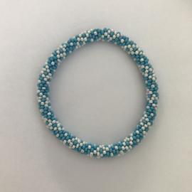Loffs armband - blauw/ wit