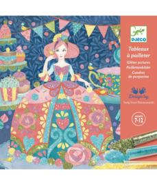 DJECO doos om 4 glitter schilderijen Daydream te maken 7 jr. +