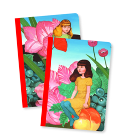 Djeco Lovely Paper - 2 small Notebooks Fedora