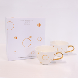 Urban Nature Culture - Good Morning cup - Circle Gold Giftset 2x