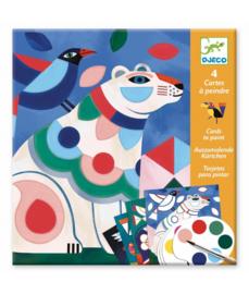 DJECO 4 verfkaarten Fanciful Bestiary  6 jr. +