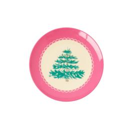 RICE melamine dessertbord 16cm - Xmas Tree print (nieuwe collectie AW2020)