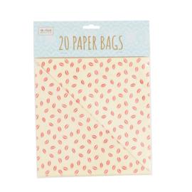 RICE 20 papieren puntzakjes - kiss print