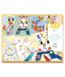DJECO Create with shapes - Letters - 3 jr. +