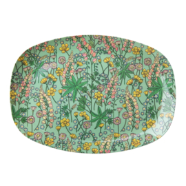 RICE melamine groot bord - lupin print