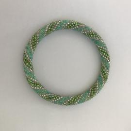 Loffs armband - groen/ wit