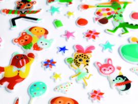 DJECO stickers - Het Feestje 100 puffy stickers 3 jr. +
