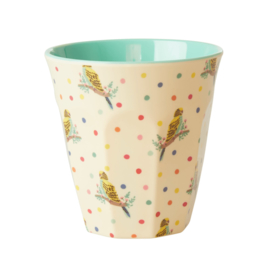 RICE beker - Budgie print  (nieuwe collectie 'Choose Happy' 2021)