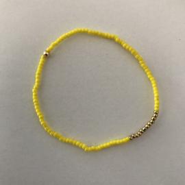 Loffs armband Tiny - fel geel
