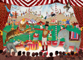 Grootzus ansichtkaart Circus
