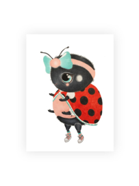 Illeke A5 kaart & envelop Bella het Lieverheersbeestje