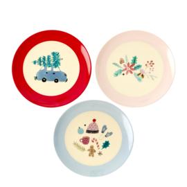 RICE melamine dessertbord 16cm - Christmas print (nieuwe collectie High Winter 2019)