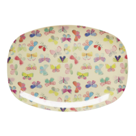 RICE melamine groot bord - butterfly print