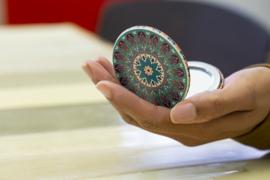 Kikkerland Mandala inklap spiegeltje