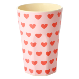 RICE beker tall - Hearts print