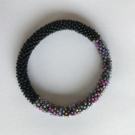 Loffs armband - zwart/ gekleurd
