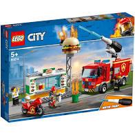 60214 Lego City Brand bij het hamburger restaurant