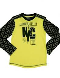 Shirt, NYC, Light yellow neon