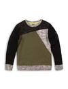 Sweater, Army Green, Grey Melee