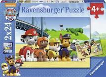 Paw patrol puzzel 2 keer 24 stukjes