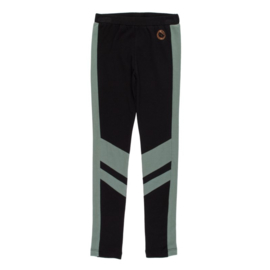 Legging, Zwart met groene streep
