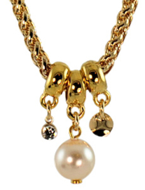 NL1 - chain with Swarovski pearl in gift pouch - 47 cm