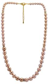 NL7-40 - Swarovski pearls chain in gift pouch - 40 cm