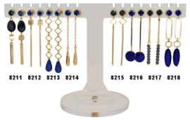 EH821 - Earhooks display 8 pairs