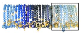 0706 - 10 bracelets refill french blue, dark blue or light blue