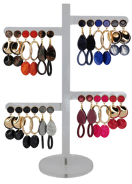 DIS12B - Earhooks display 12 pairs