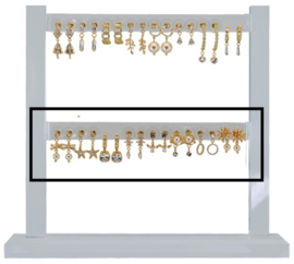 DIS16L - Refill : 1 row of 8 pairs of earhooks CZ neutral small