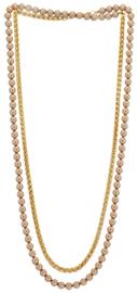 NL9 - Swarovski pearls chain in gift pouch - 115 cm (57 cm)