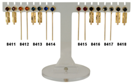 EH841 - Earhooks display 8 pairs