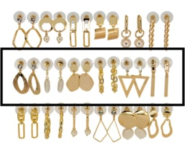 DIS18G -Refill :  1 row of 6 pairs of  earhooks
