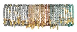 0707 - 10 bracelets refill platinum, greige or sage
