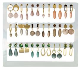 DIS18C - Earhooks display 18 pairs
