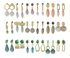 DIS18C -Refill :  1 row of 6 pairs of  earhooks
