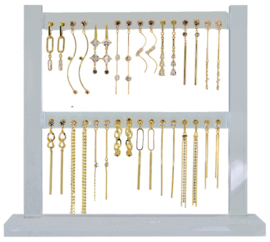 DIS16M - Earhooks display 16 pairs CZ neutral long
