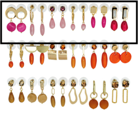 DIS18A -Refill :  1 row of 6 pairs of  earhooks